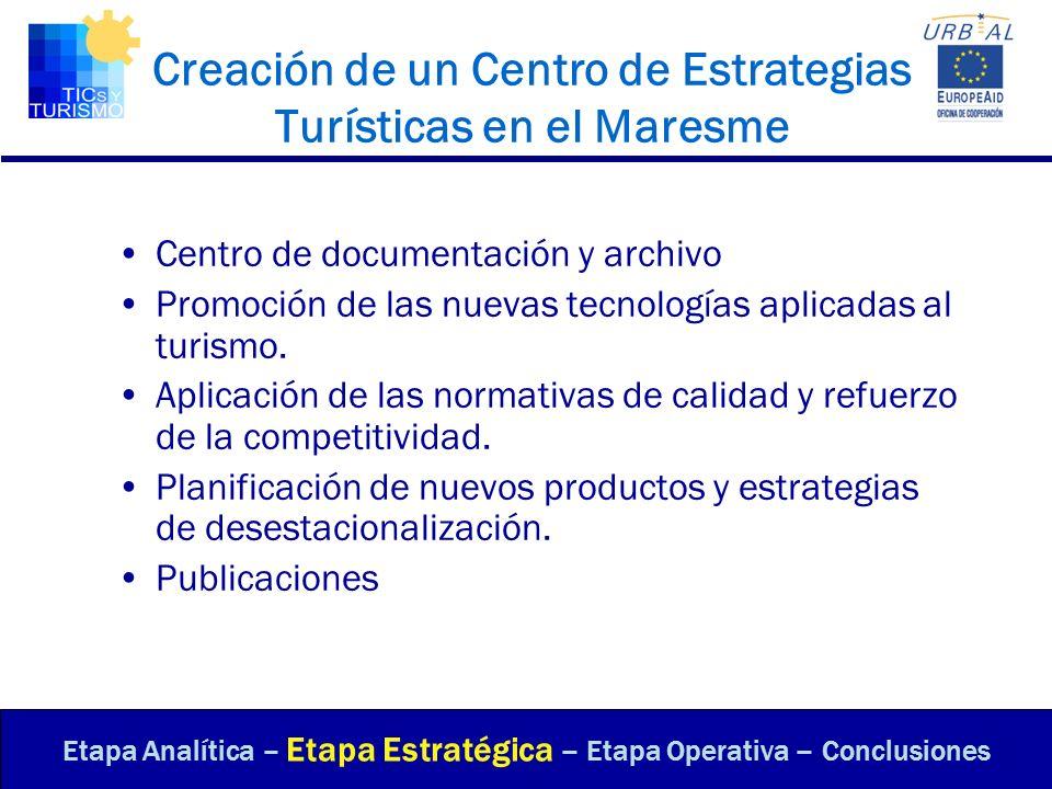 Creación de un Centro de Estrategias Turísticas en el Maresme