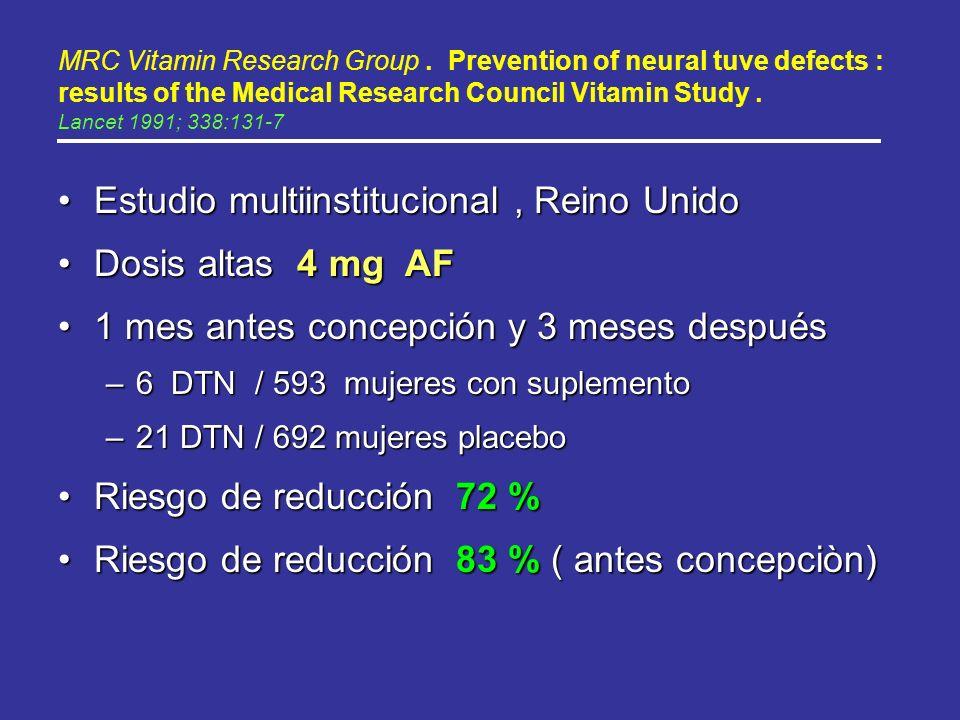 Estudio multiinstitucional , Reino Unido Dosis altas 4 mg AF