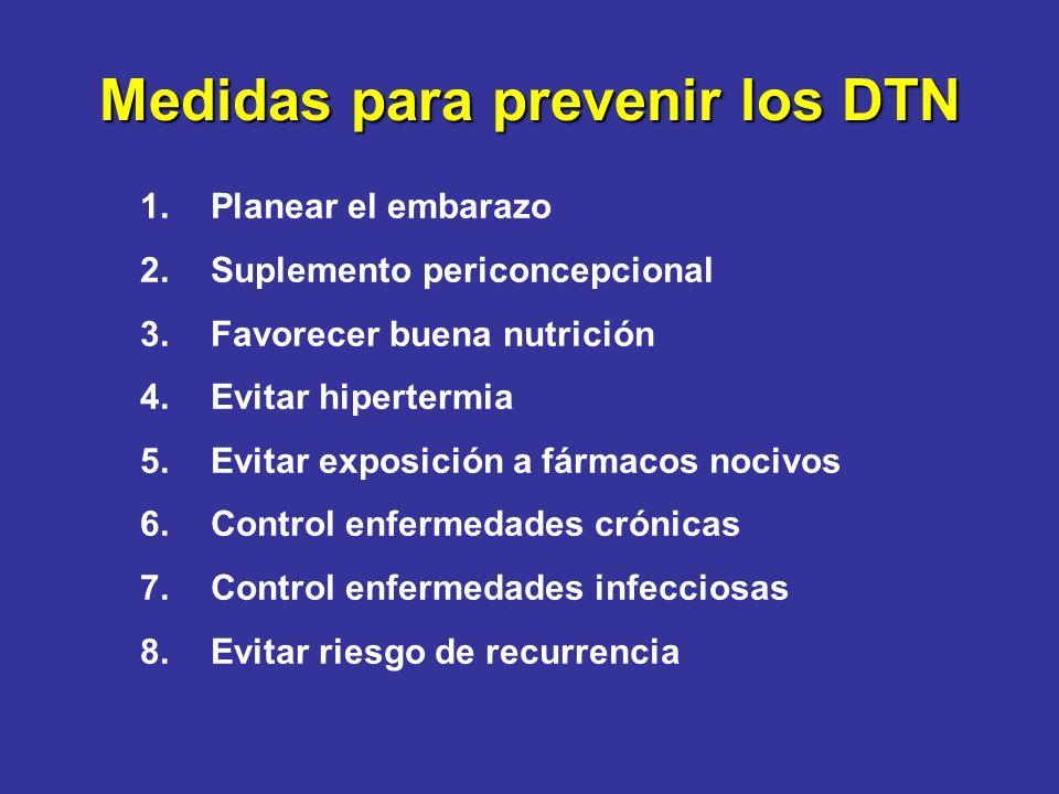 Medidas para prevenir los DTN