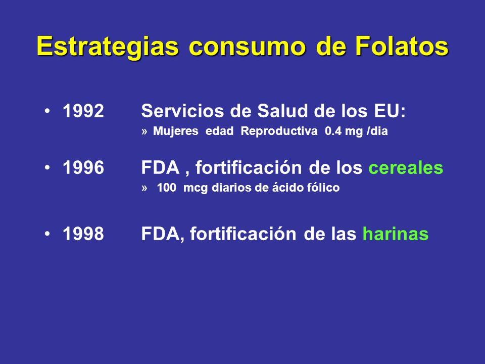 Estrategias consumo de Folatos