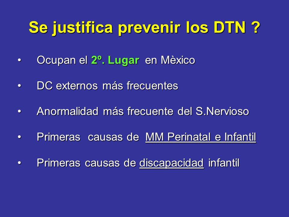 Se justifica prevenir los DTN