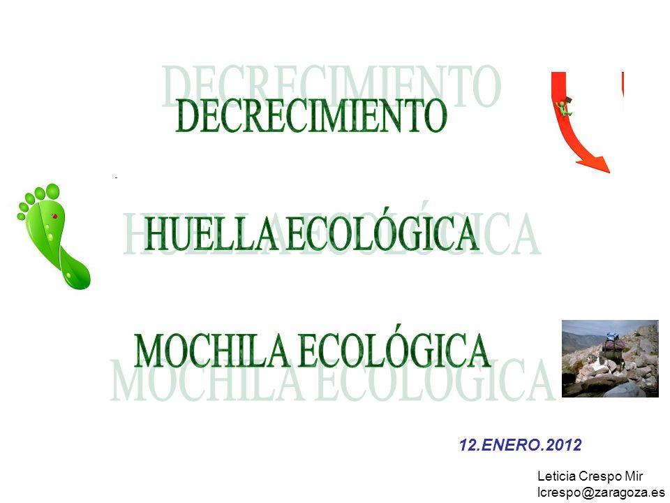 DECRECIMIENTO HUELLA ECOLÓGICA MOCHILA ECOLÓGICA 12.ENERO.2012