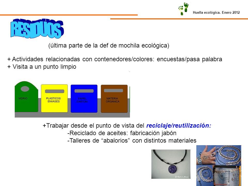 RESIDUOS (última parte de la def de mochila ecológica)