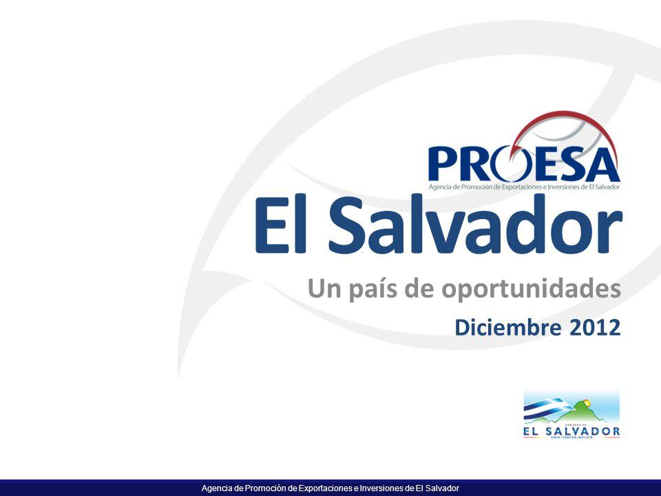 El Salvador Un país de oportunidades Diciembre 2012