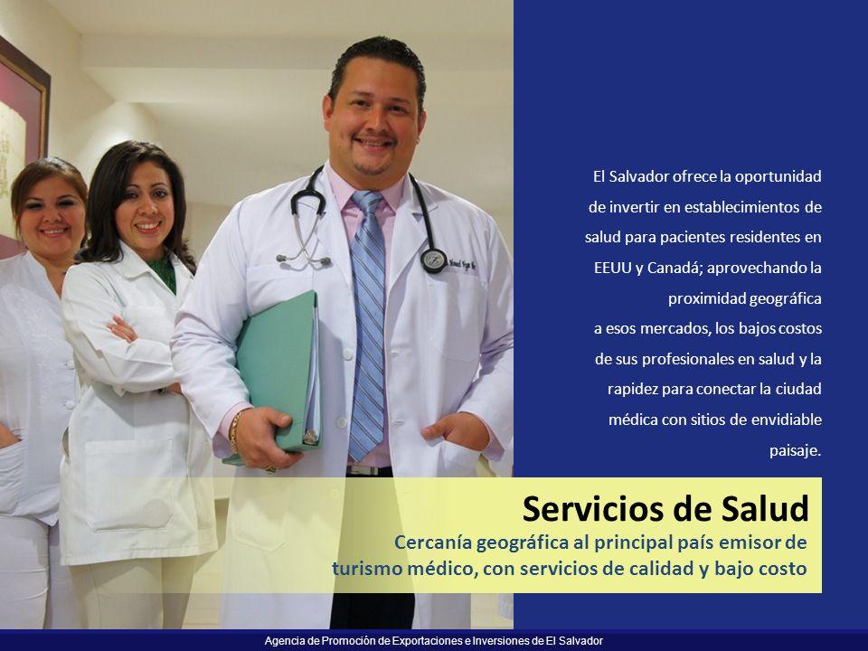 Servicios de Salud Cercanía geográfica al principal país emisor de