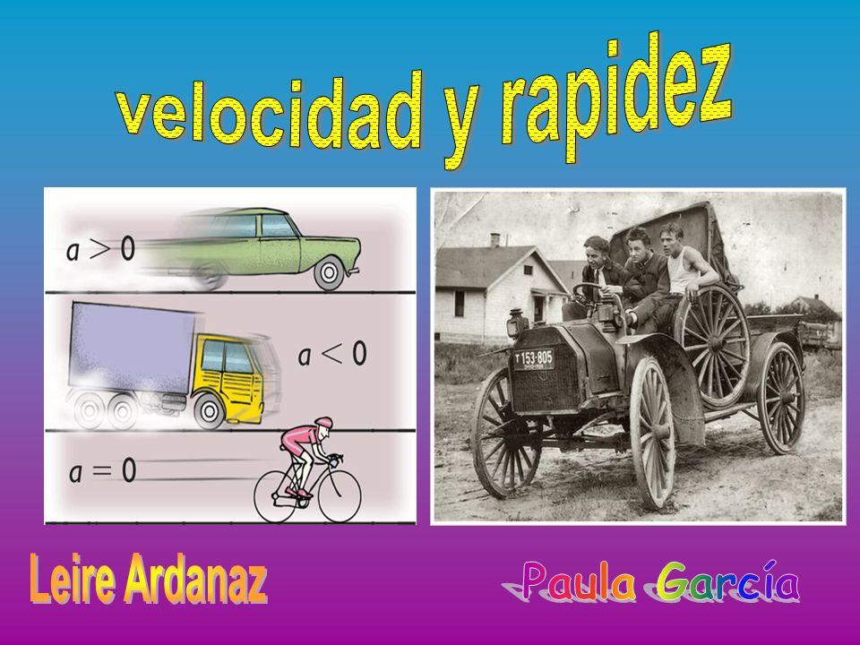 velocidad y rapidez Leire Ardanaz Paula García