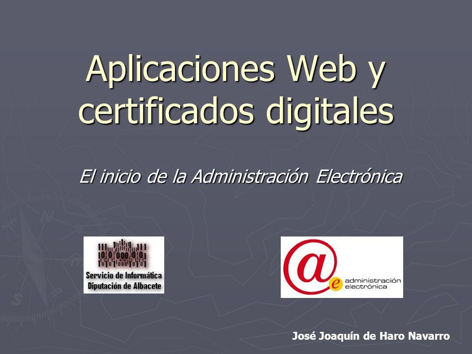 Aplicaciones Web y certificados digitales