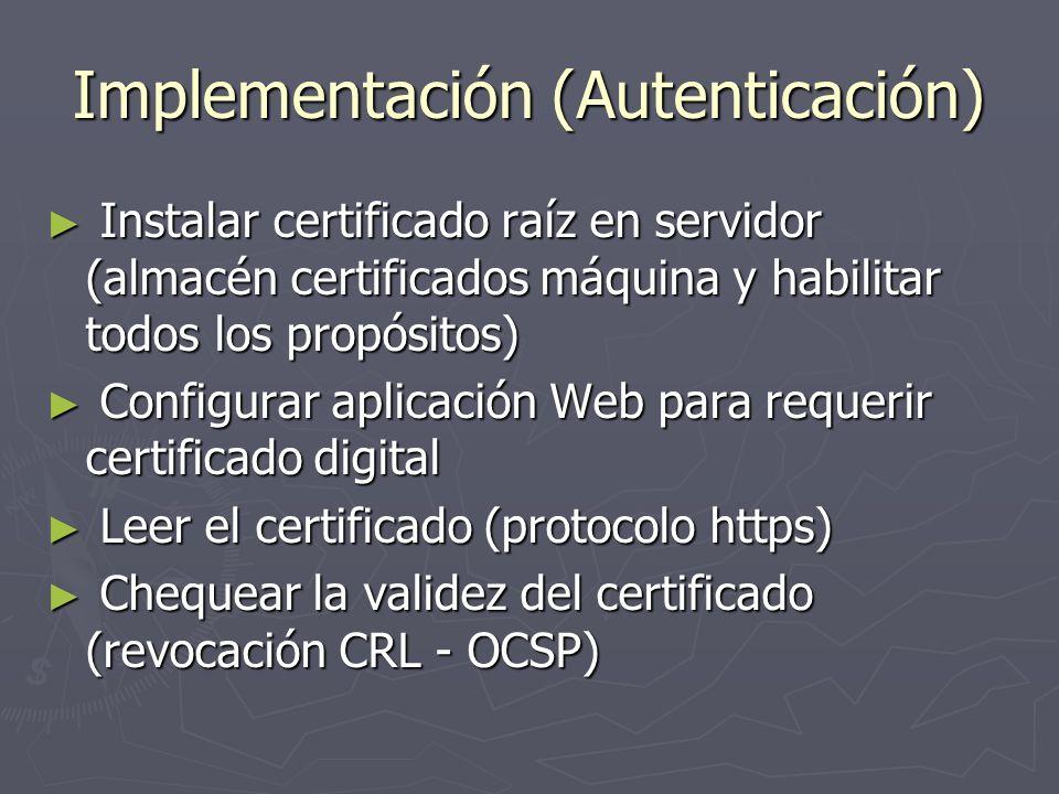 Implementación (Autenticación)