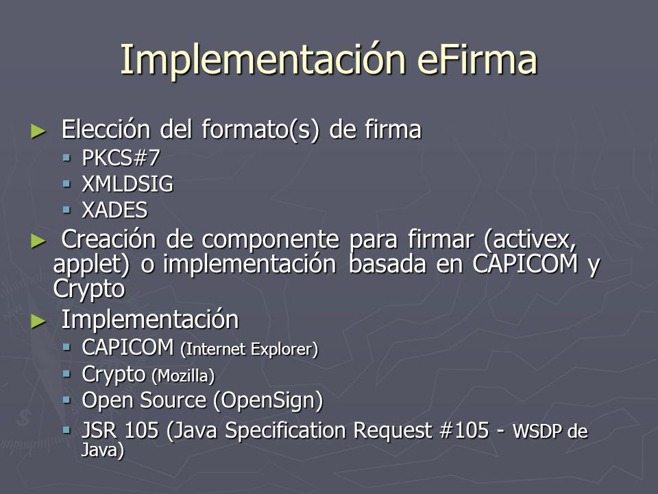 Implementación eFirma