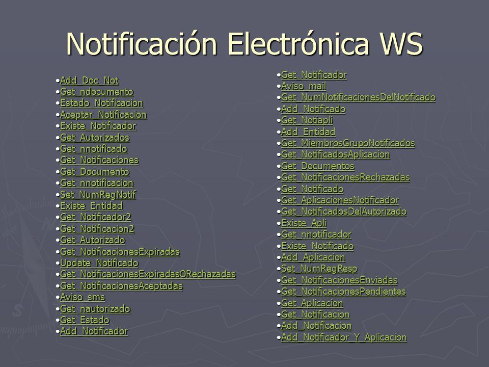 Notificación Electrónica WS