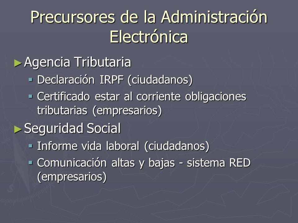 Precursores de la Administración Electrónica