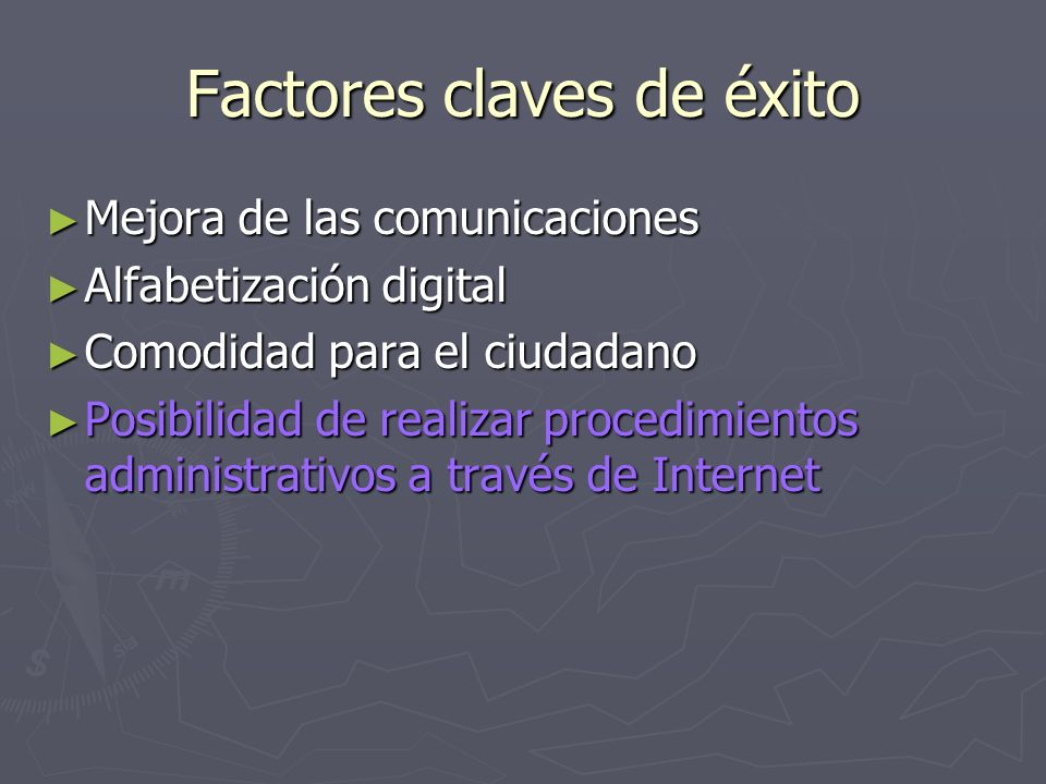 Factores claves de éxito