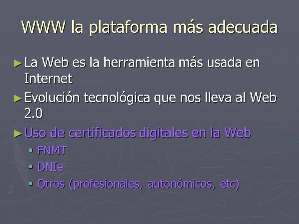 WWW la plataforma más adecuada