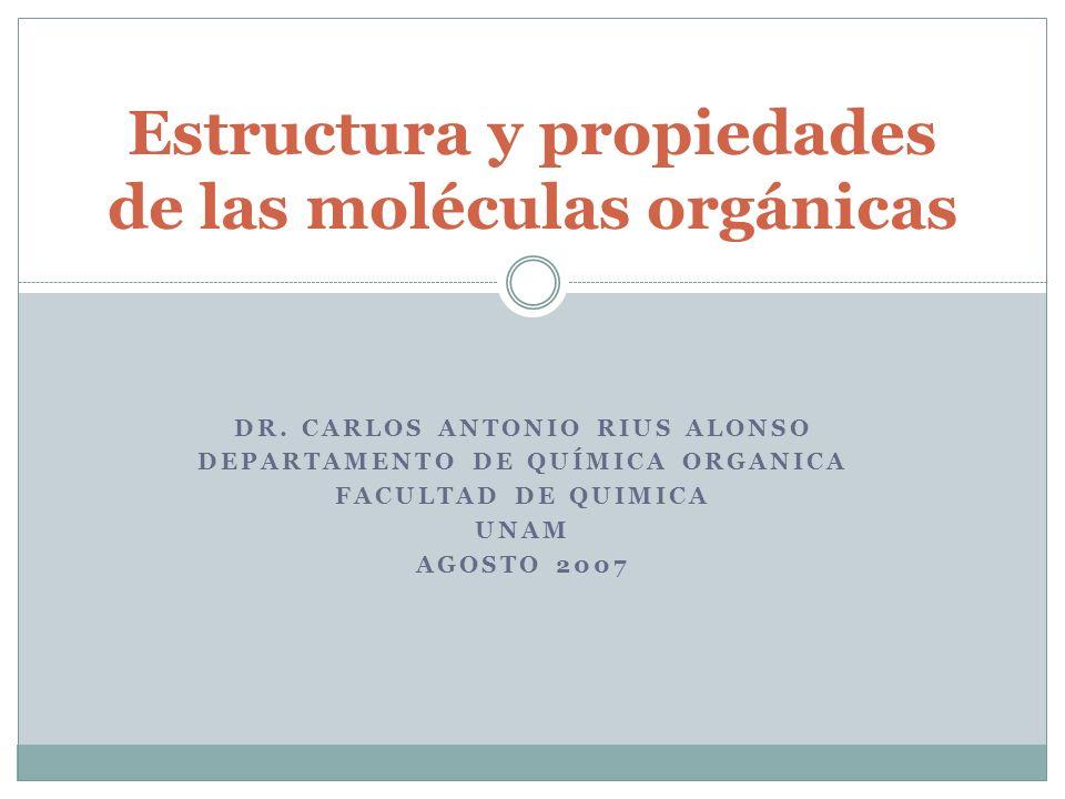 Estructura y propiedades de las moléculas orgánicas