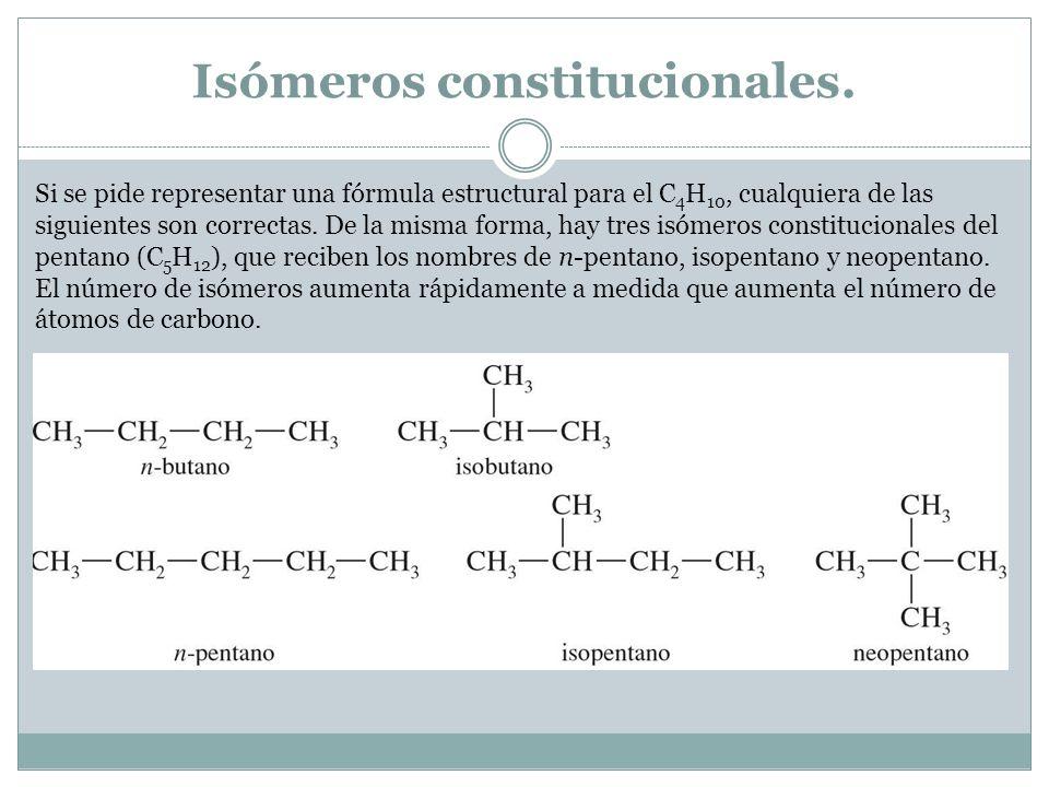 Isómeros constitucionales.