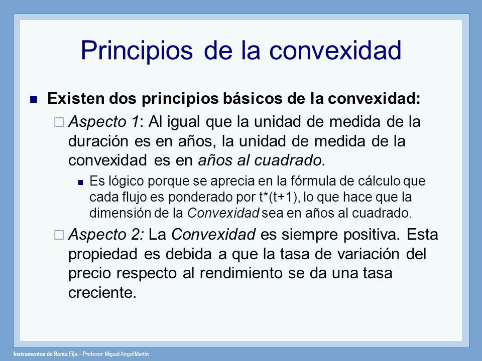 Principios de la convexidad