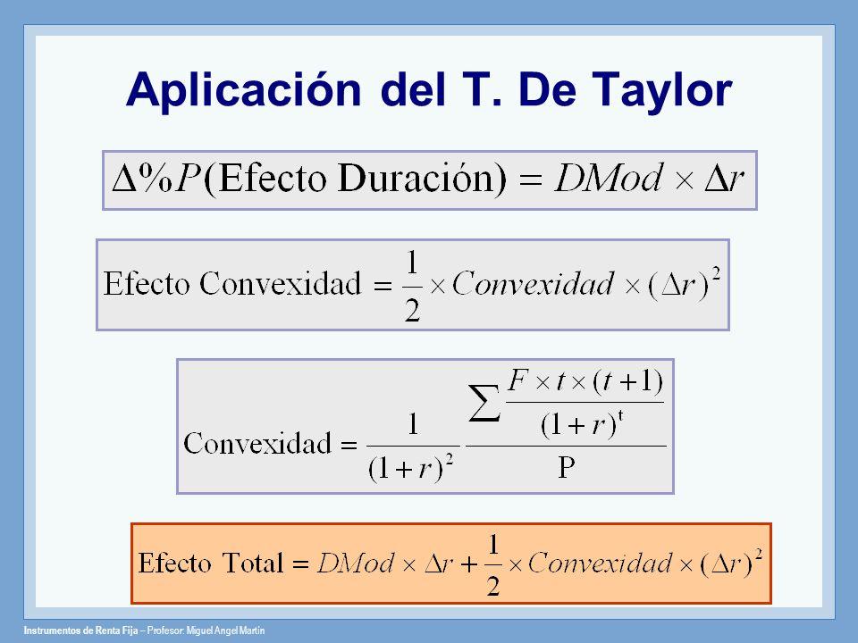 Aplicación del T. De Taylor