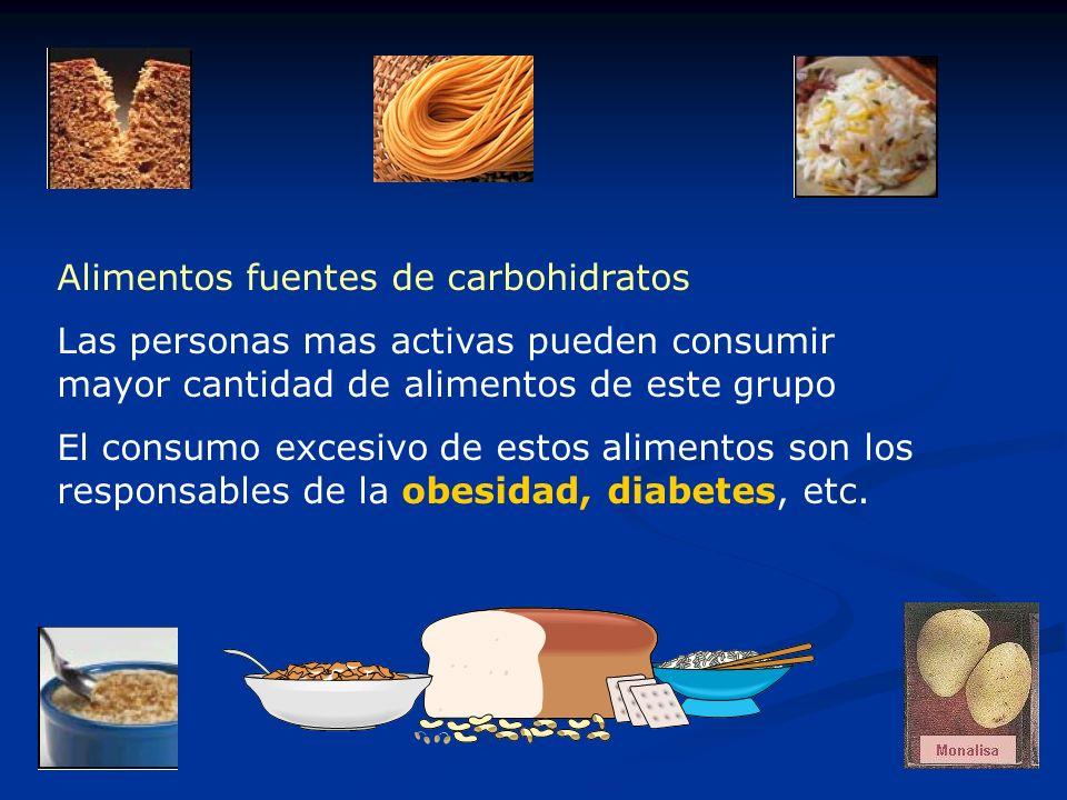 Alimentos fuentes de carbohidratos