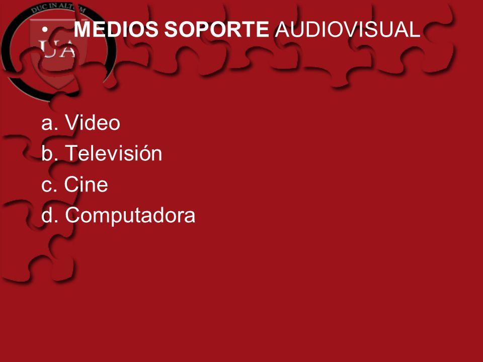 MEDIOS SOPORTE AUDIOVISUAL