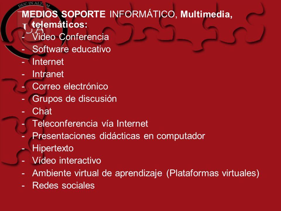 MEDIOS SOPORTE INFORMÁTICO, Multimedia, telemáticos: