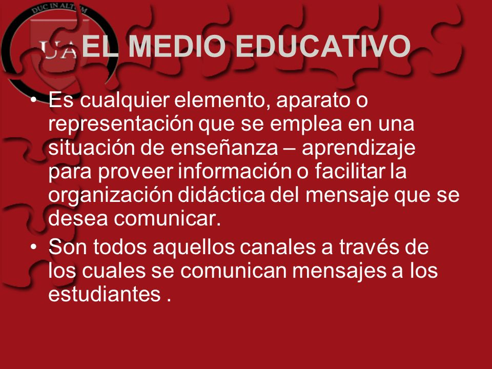EL MEDIO EDUCATIVO