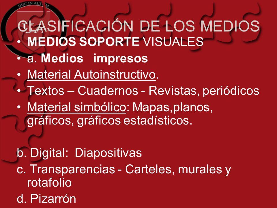 CLASIFICACIÓN DE LOS MEDIOS