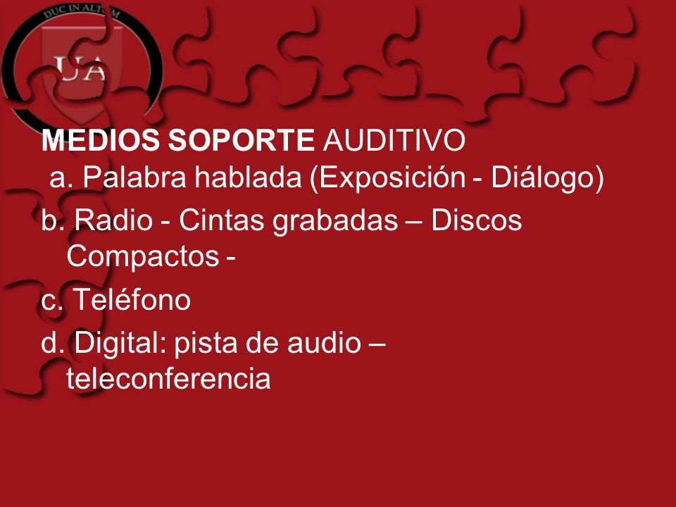 MEDIOS SOPORTE AUDITIVO