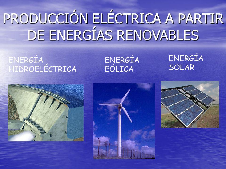 PRODUCCIÓN ELÉCTRICA A PARTIR DE ENERGÍAS RENOVABLES