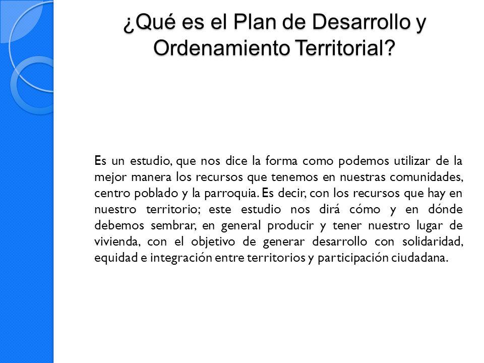 ¿Qué es el Plan de Desarrollo y Ordenamiento Territorial