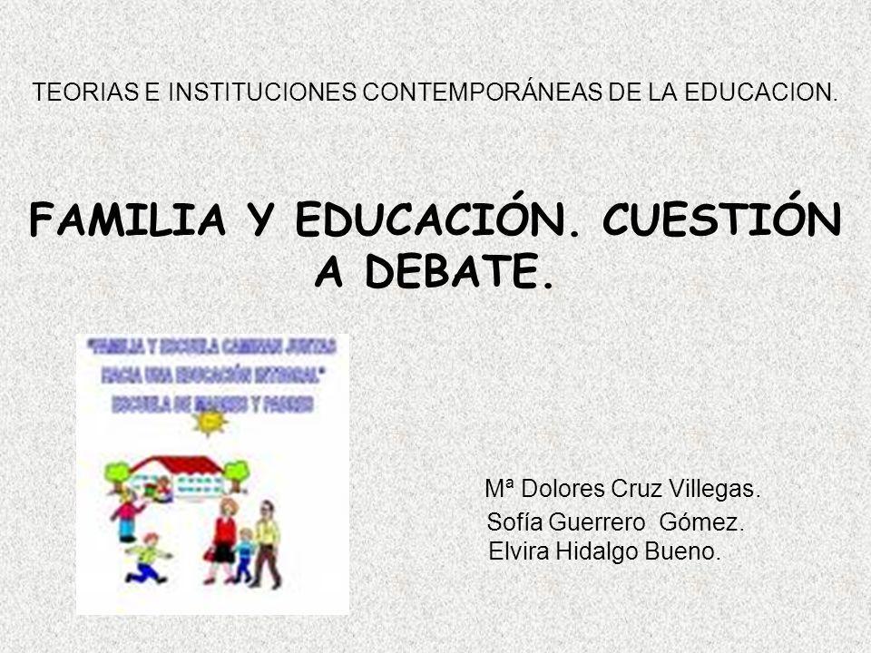 TEORIAS E INSTITUCIONES CONTEMPORÁNEAS DE LA EDUCACION