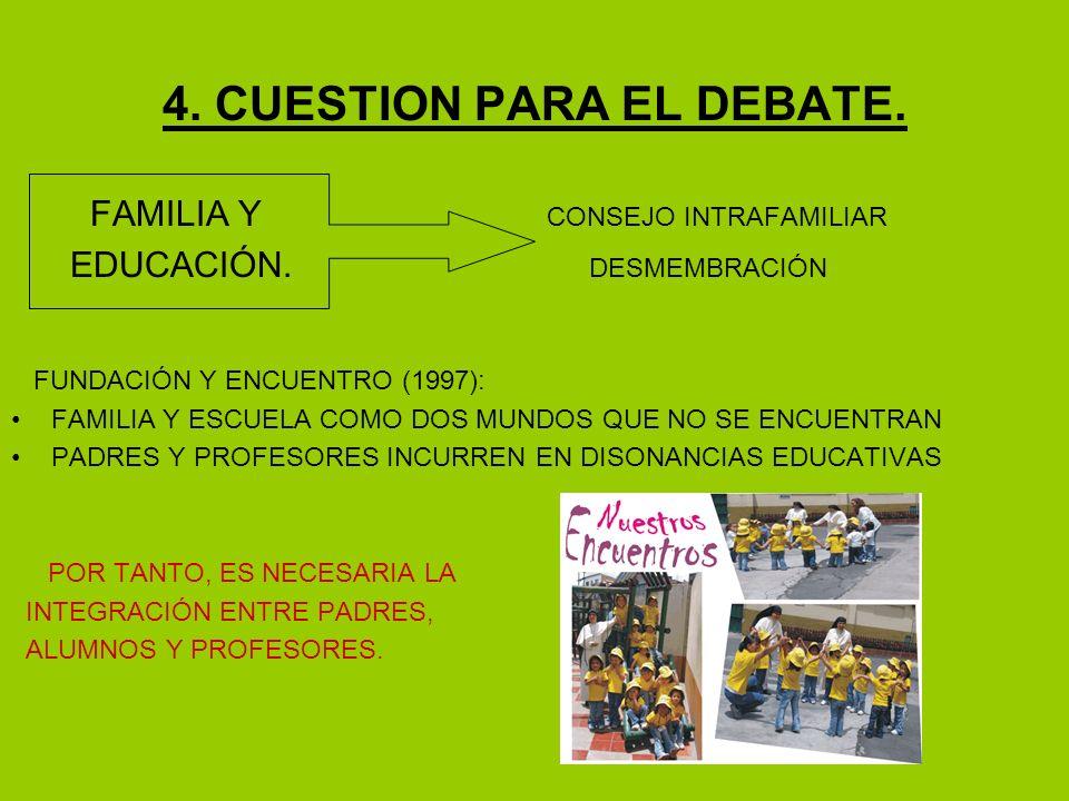 4. CUESTION PARA EL DEBATE.