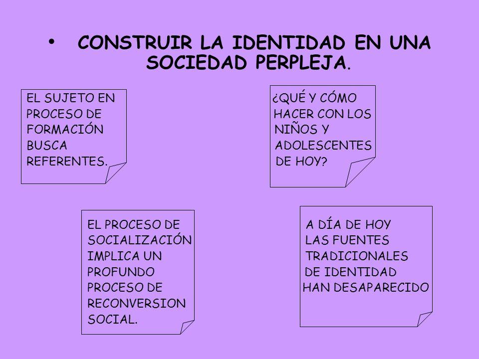 CONSTRUIR LA IDENTIDAD EN UNA SOCIEDAD PERPLEJA.