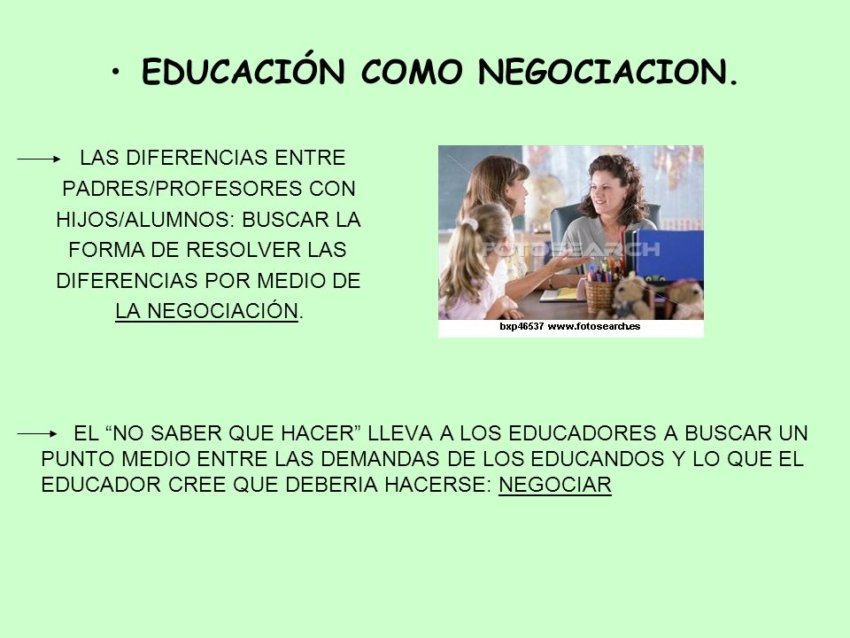 EDUCACIÓN COMO NEGOCIACION.
