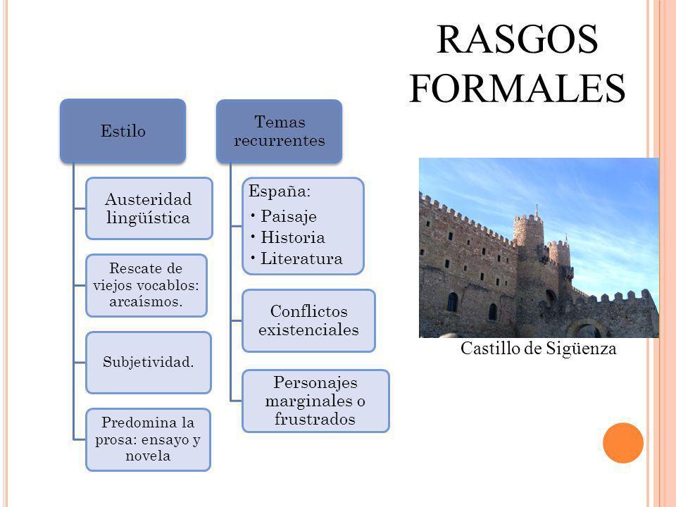 RASGOS FORMALES Castillo de Sigüenza Estilo Austeridad lingüística