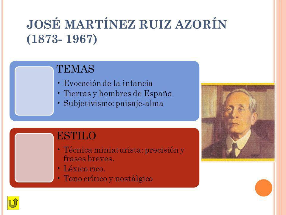 JOSÉ MARTÍNEZ RUIZ AZORÍN (1873- 1967)