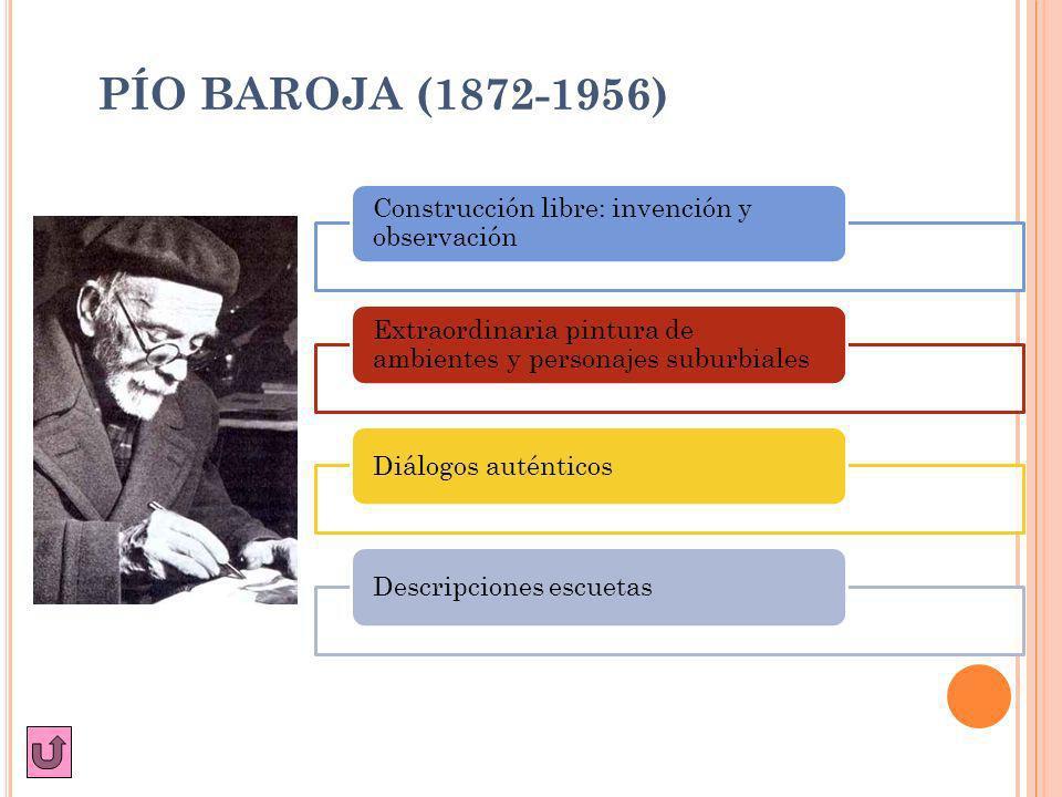 PÍO BAROJA (1872-1956) Construcción libre: invención y observación