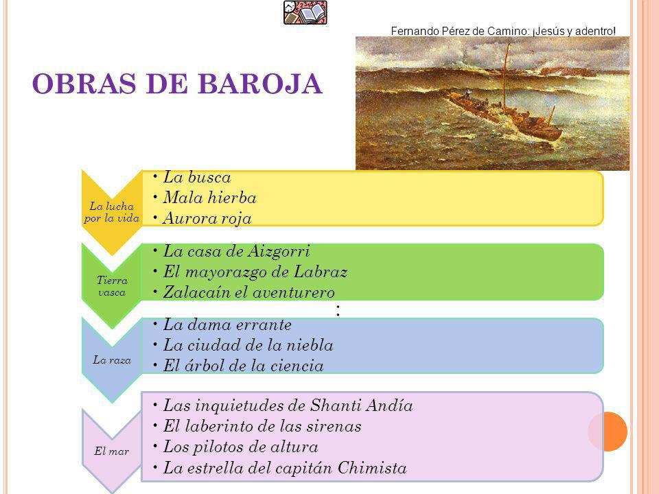 OBRAS DE BAROJA : La busca Mala hierba Aurora roja La casa de Aizgorri