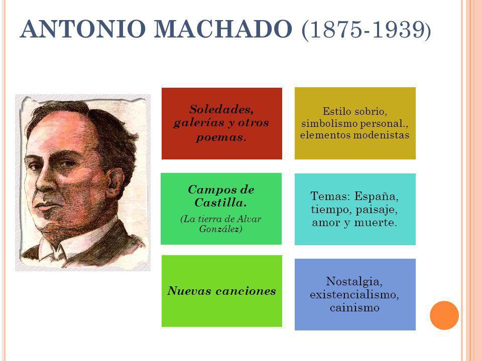 ANTONIO MACHADO (1875-1939) Nostalgia, existencialismo, cainismo