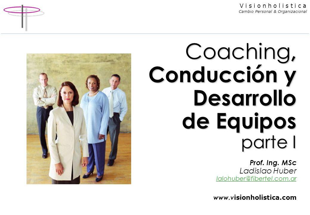 Coaching, Conducción y Desarrollo de Equipos parte I Prof. Ing