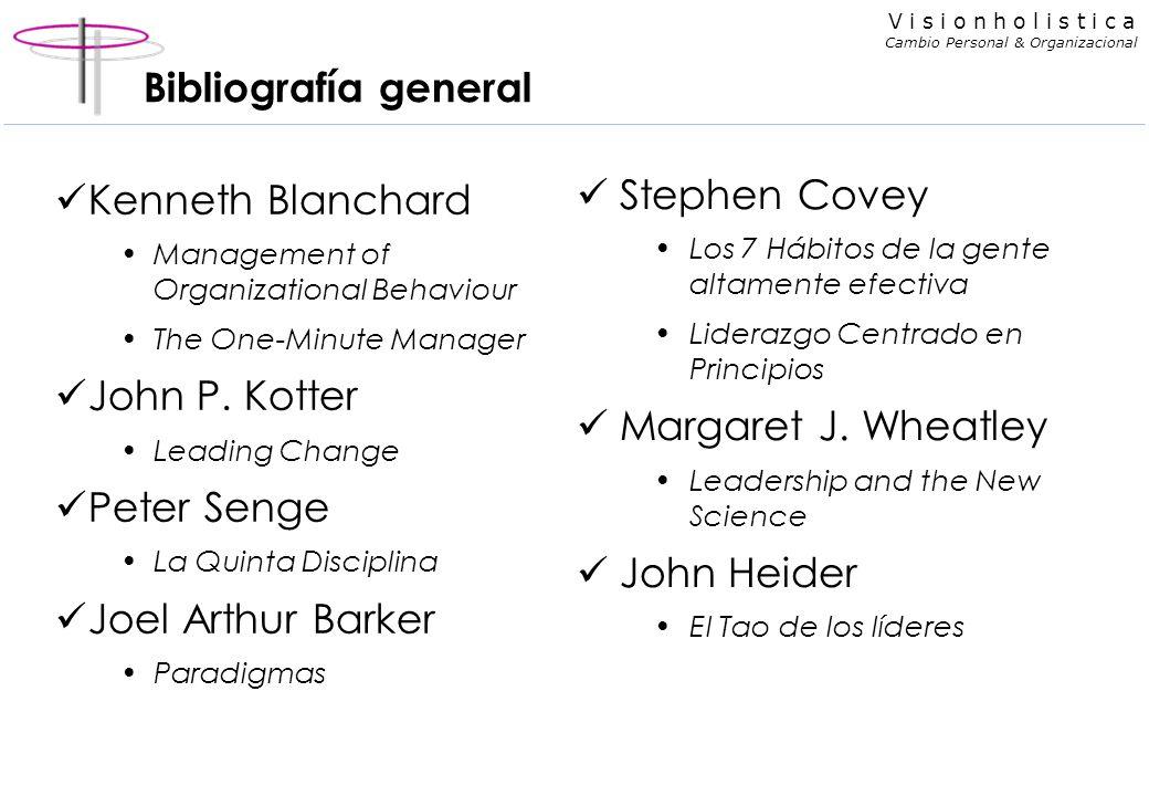 Bibliografía general Stephen Covey Kenneth Blanchard John P. Kotter