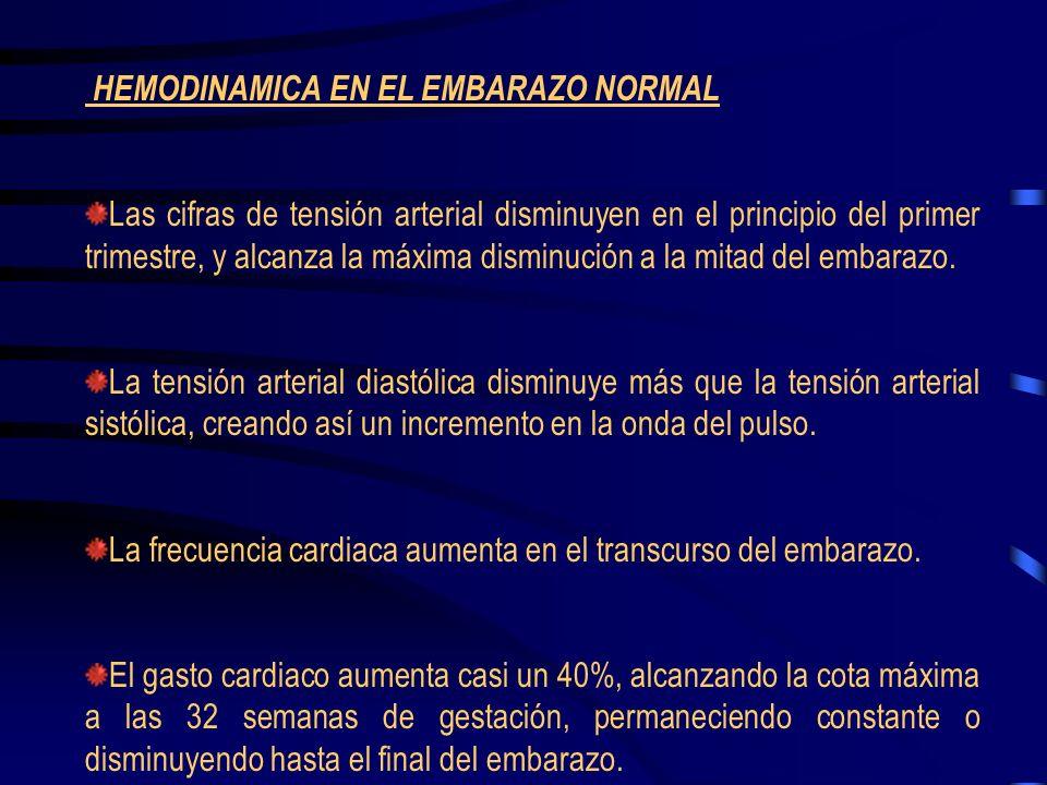 HEMODINAMICA EN EL EMBARAZO NORMAL