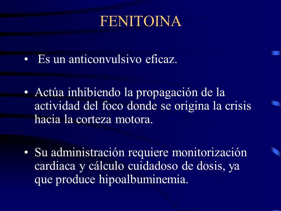 FENITOINA Es un anticonvulsivo eficaz.
