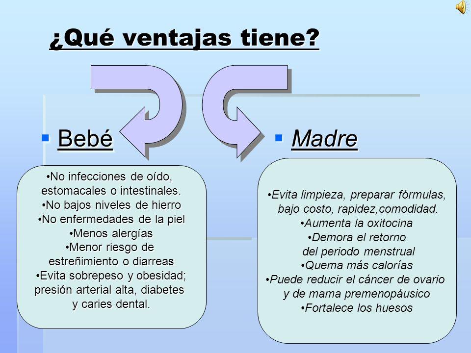 ¿Qué ventajas tiene Bebé Madre No infecciones de oído,