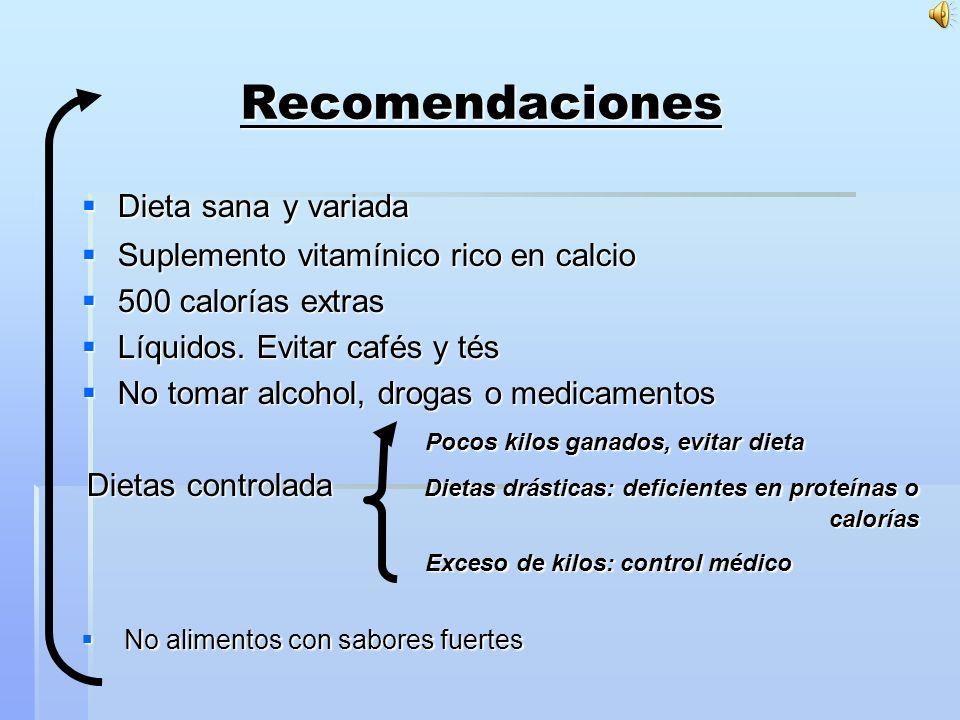 Recomendaciones Dieta sana y variada
