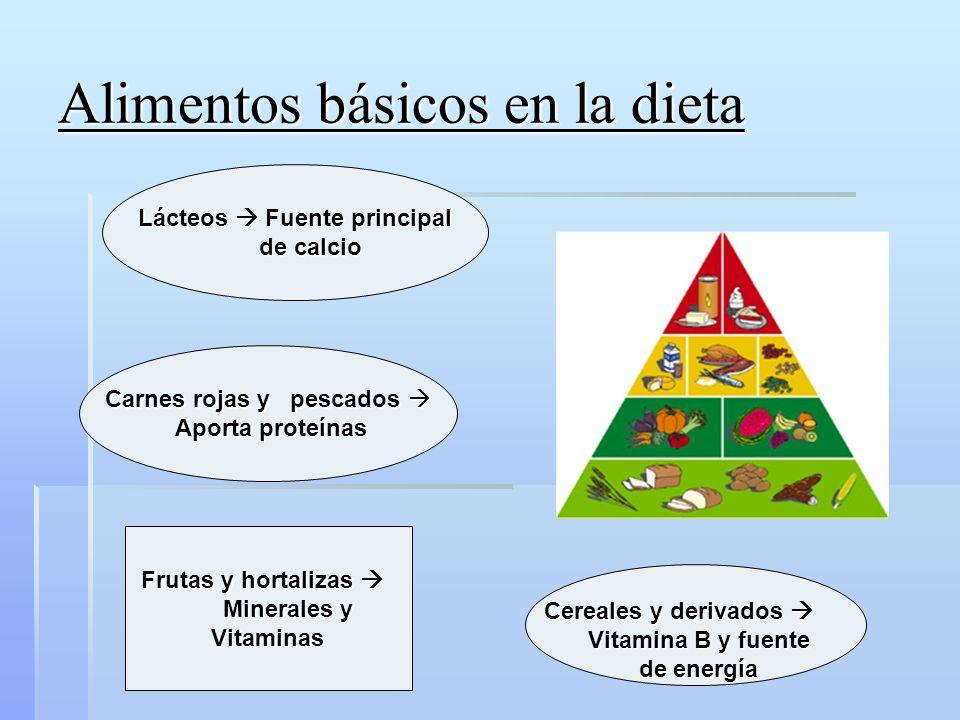 Alimentos básicos en la dieta