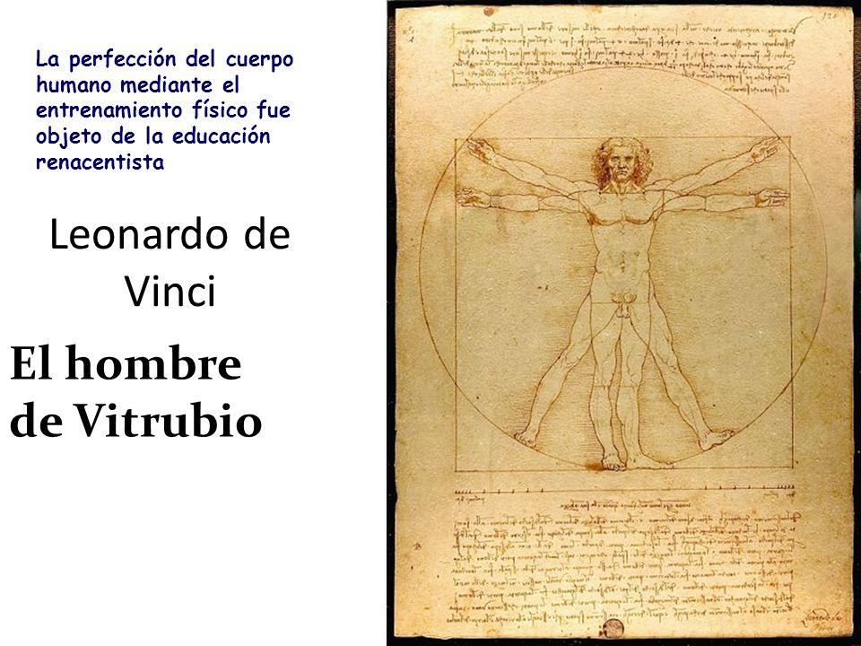 Leonardo de Vinci El hombre de Vitrubio