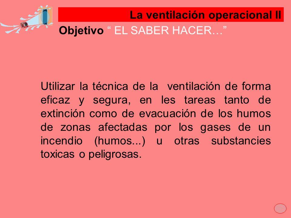 La ventilación operacional lI