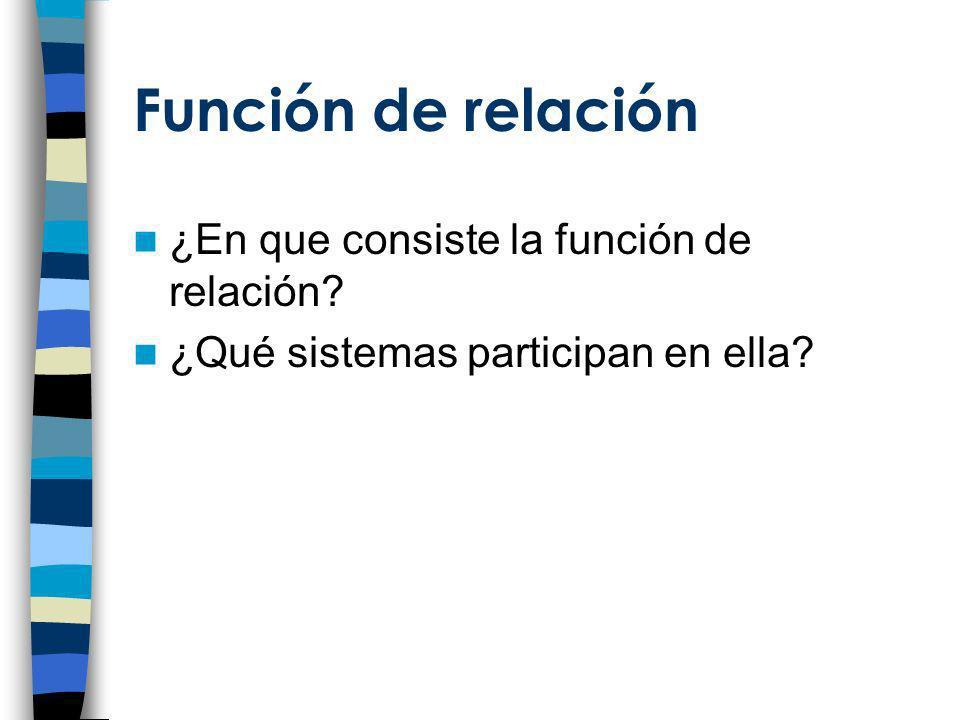 Función de relación ¿En que consiste la función de relación