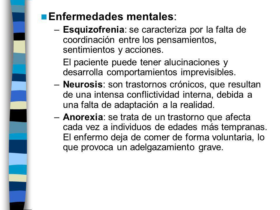 Enfermedades mentales: