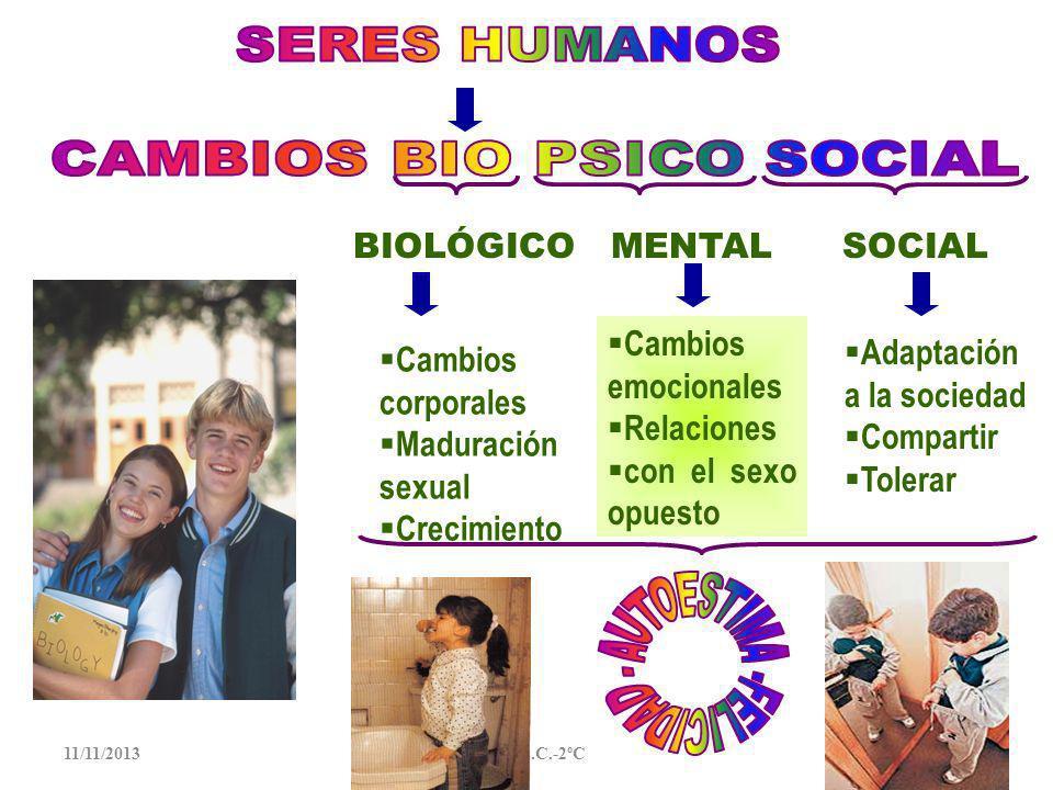 CAMBIOS BIO PSICO SOCIAL AUTOESTIMA -FELICIDAD -